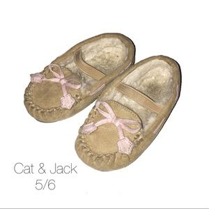 1a91df1fbcc2 Cat   Jack Tan Pink Moccassins 5 6 Small
